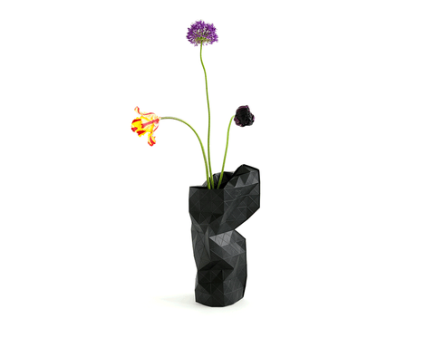 Paper Vase Cover - black - Archer + Co