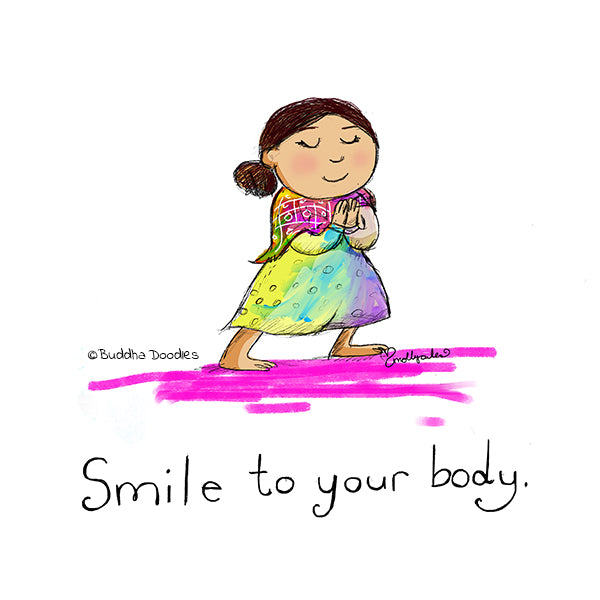 Today's Doodle: Smile to Your Body