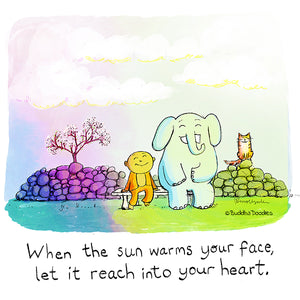 Today's Doodle: Let the sun warm your heart