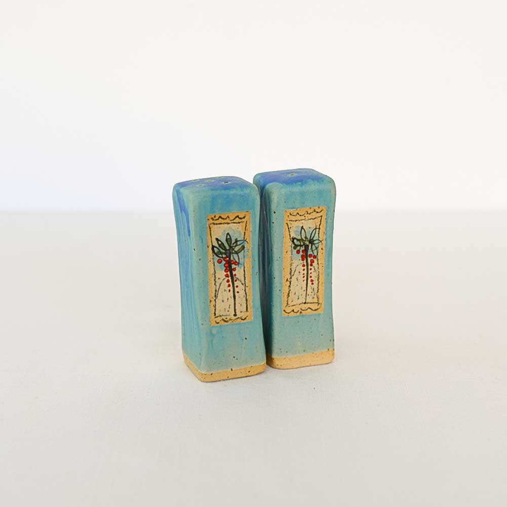 Salt and Pepper shakers - ARAVA - Turquoise Palm Tree
