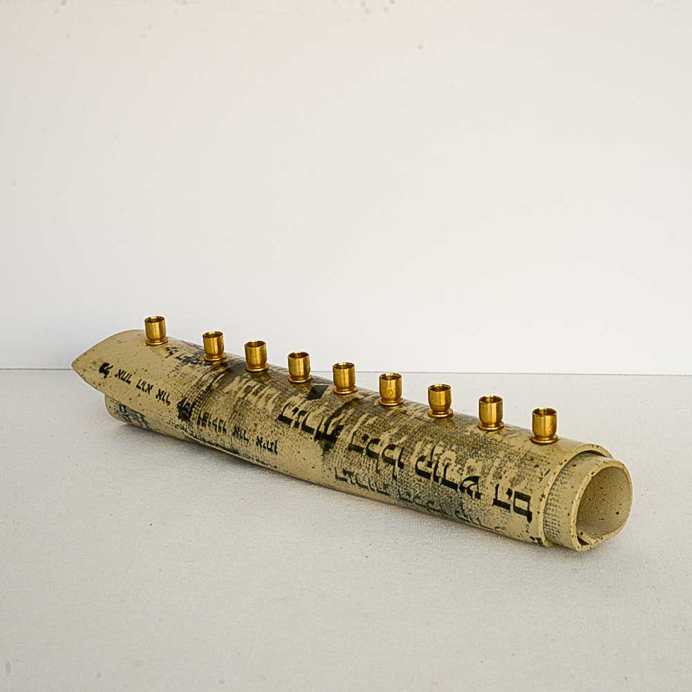 Silk-print Roll Menorah