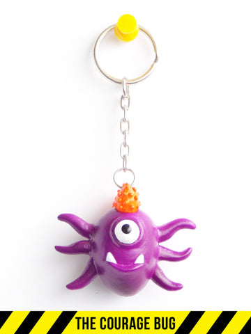 The Courage Bug Keychain