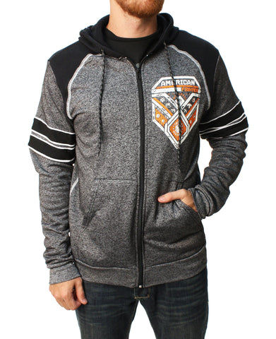 American Fighter Men's Donnelly Full Zip Raglan Hoodie