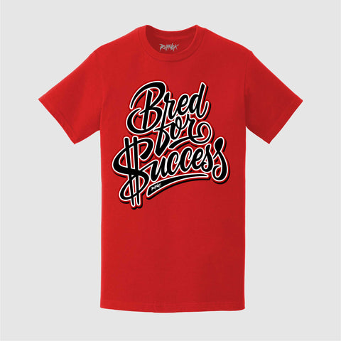 BLACK CEMENT BRED for SUCCESS (RED) Tee