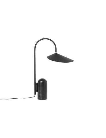 Arum table lamp - black with black marble - by ferm LIVING