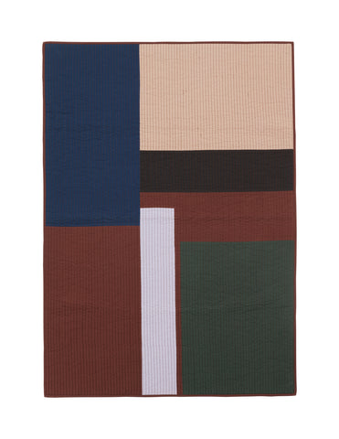 Shay Patchwork Quilt Blanket in Cinnamon by ferm LIVING