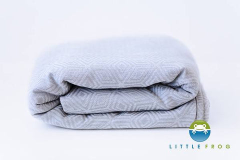 Little Frog Grey Cube Woven Wrap - Seconds quality