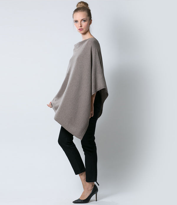 Pure Taupe Poncho