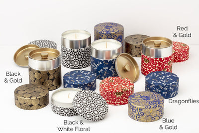 These soy blend, fair trade washi tin candles make meaningful gifts. Handmade in the United States using quality ingredients.