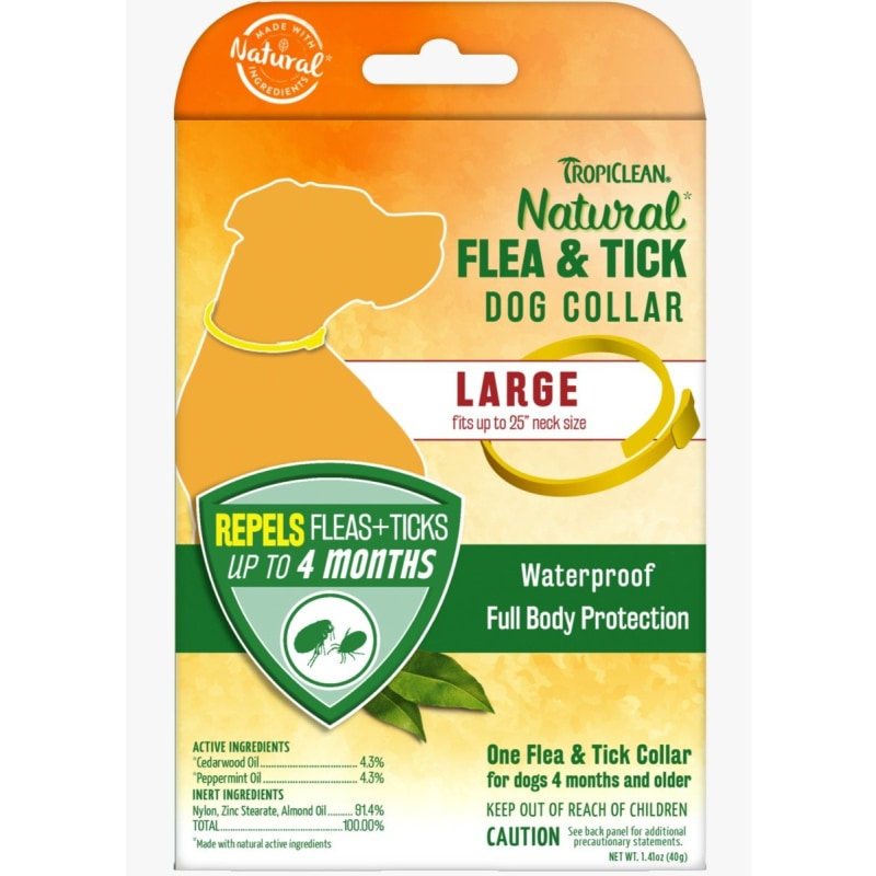 TropiClean Natural Flea & Tick For Large Dog Collar