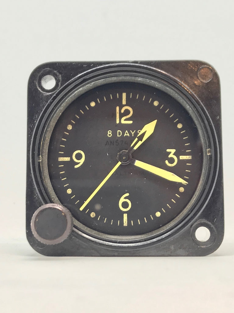 Waltham WW2 Military A-11 Aircraft Clock Navy