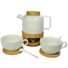 Thijs Bamboo and Porcelain Tea Set