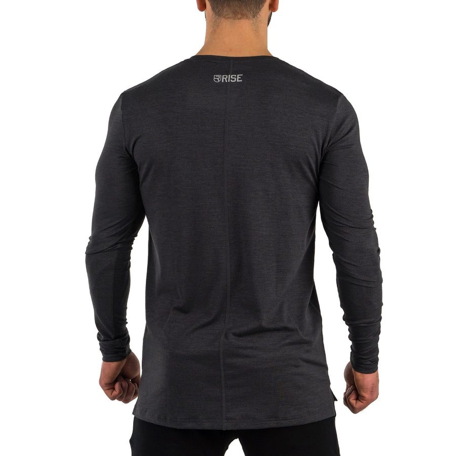 Softest Long Sleeve – Black Marl