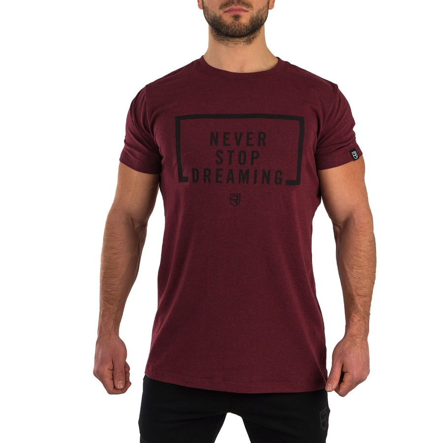 Never Stop Dreaming T-Shirt - Heather Burgundy