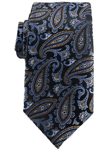 Heritage House 25730 100% Woven Silk Boy's Tie - Paisley - Blue/Brown Boys Tie Heritage House