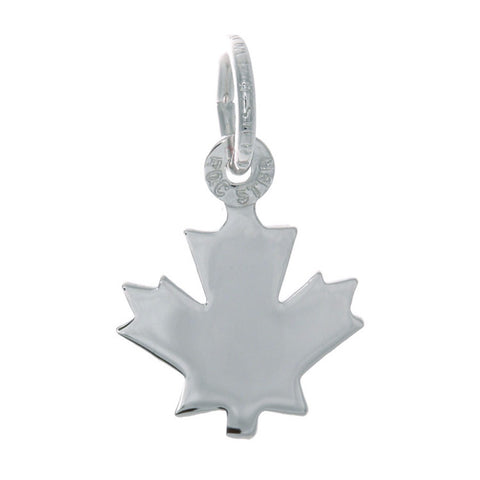 Sterling Silver Small Centennial Maple Leaf Charm