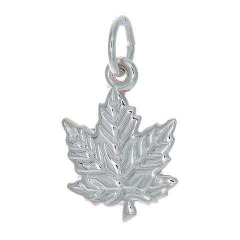 Sterling Silver Small Maple Leaf Charm