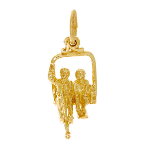 10k Yellow Gold Ski Lift Charm