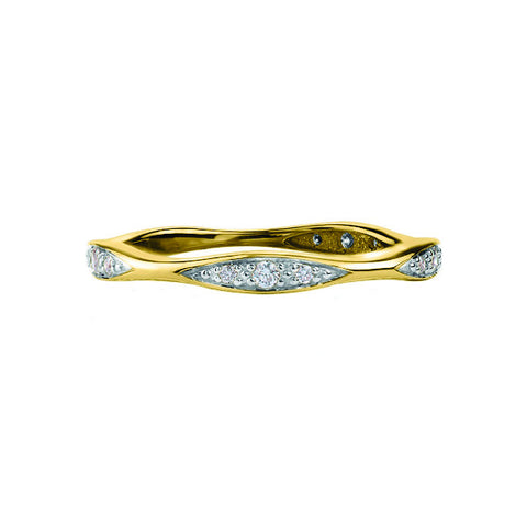 10k Gold and Diamond Wave Band