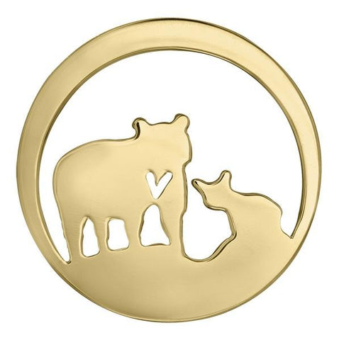 14k Canadian Gold Jeanie Bear Pendant - Small