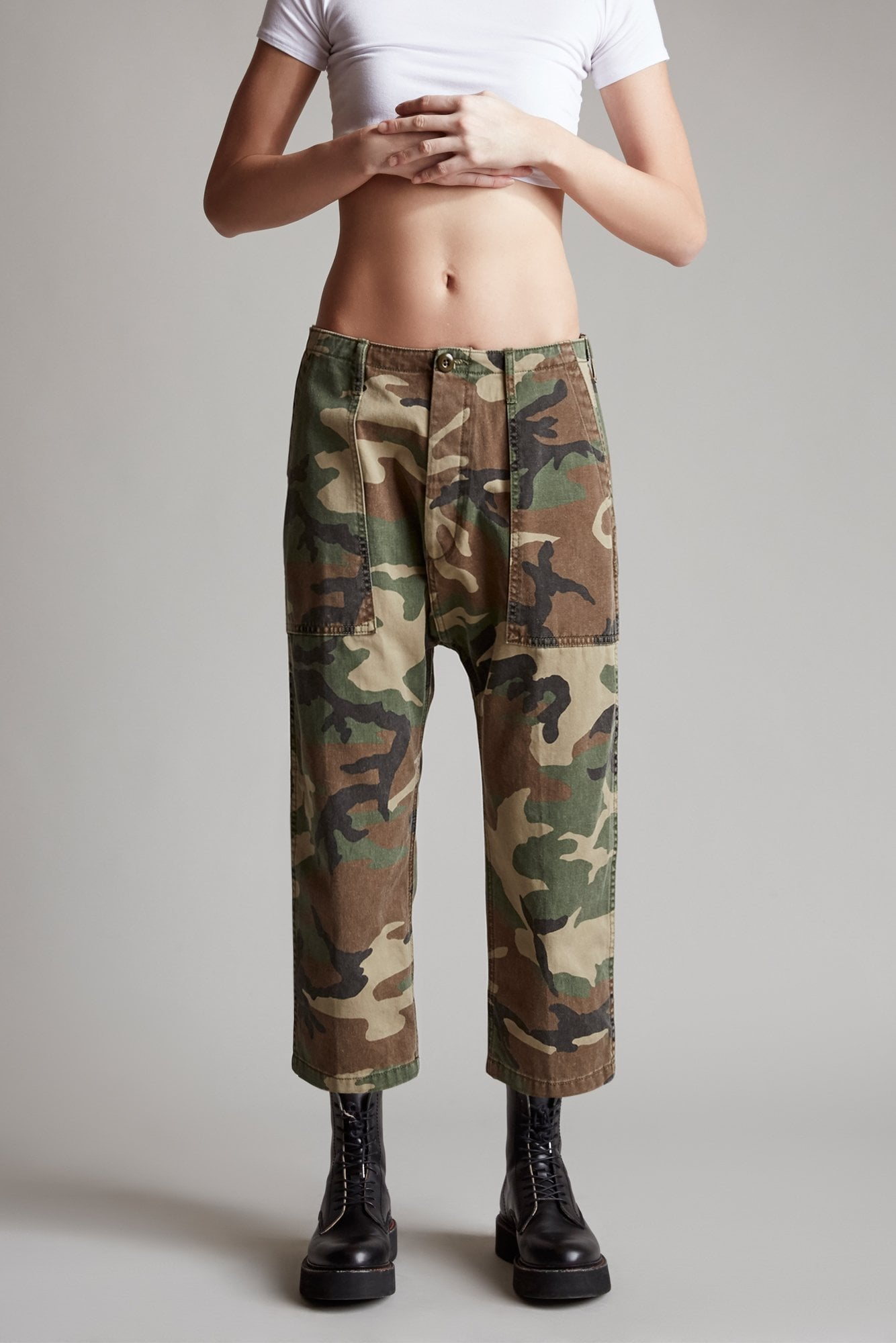 Utility Drop Crotch Pant- Camo