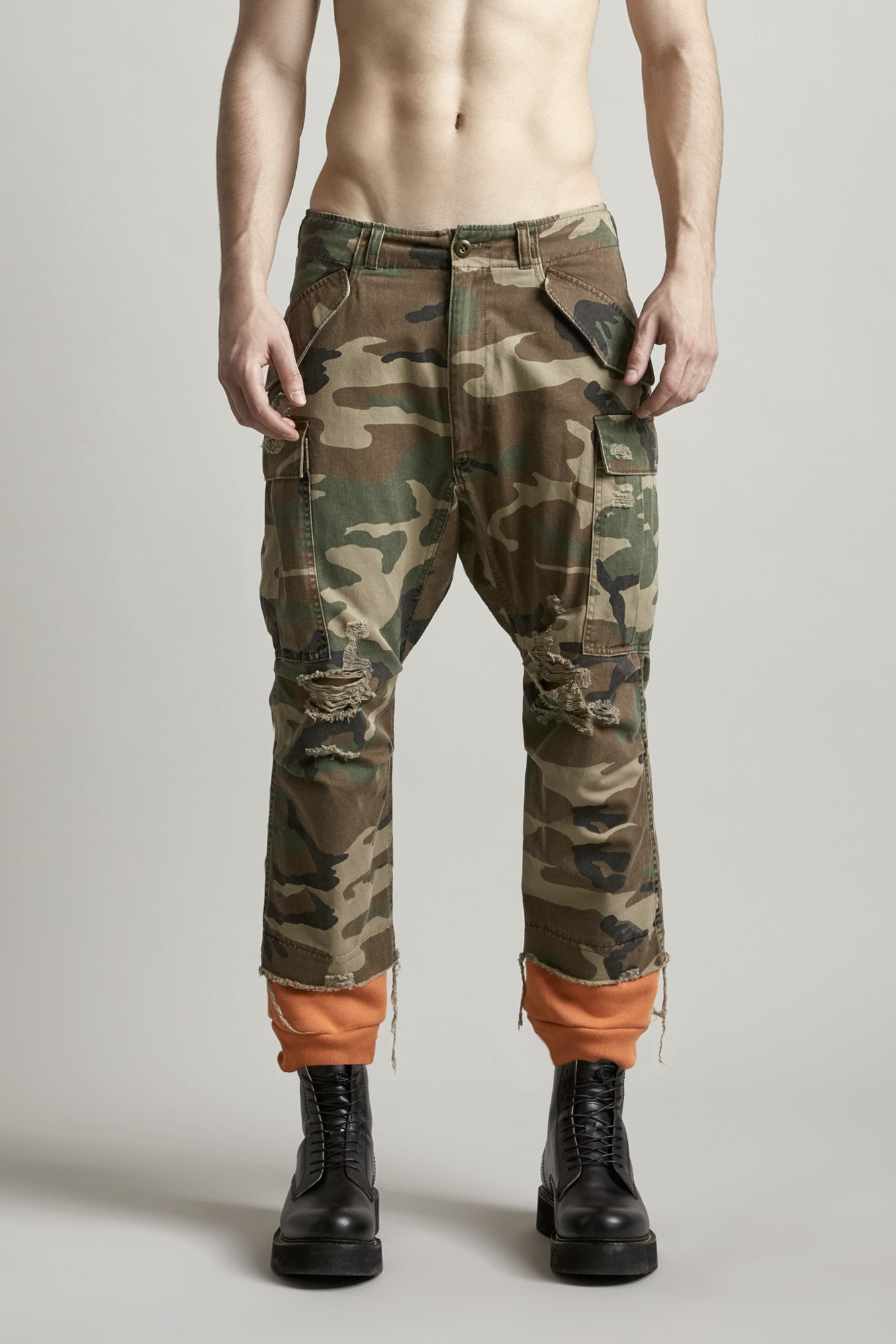 Harem Cargo with Sweat Cuff - Camo