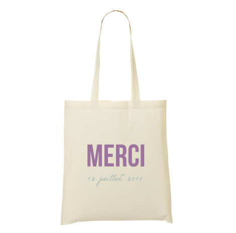 Tote bag merci