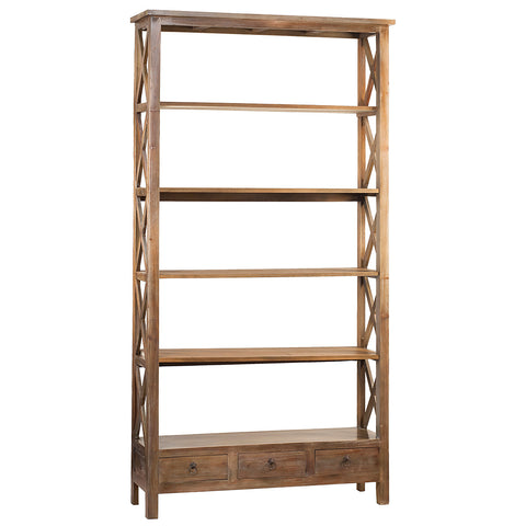 Allison Bookcase Extra Large, Gray Wash