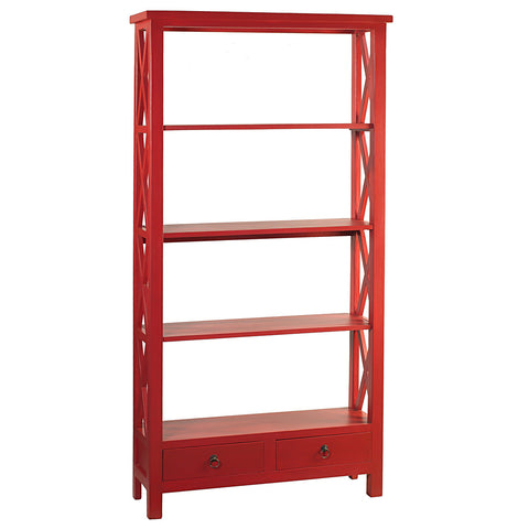 Allison Bookcase Large, True Red