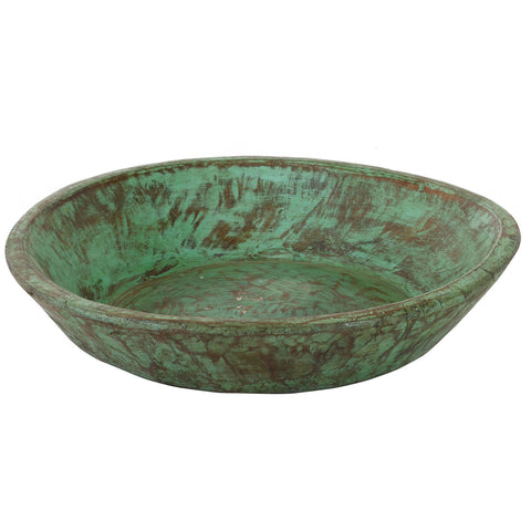 Wooden Parat Bowl, Green