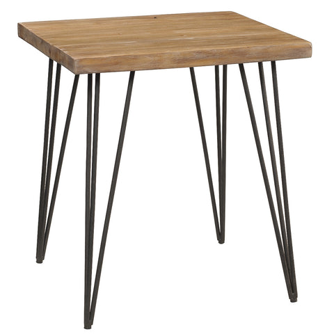 Atlas Live Edge Side Table, Gray Wash