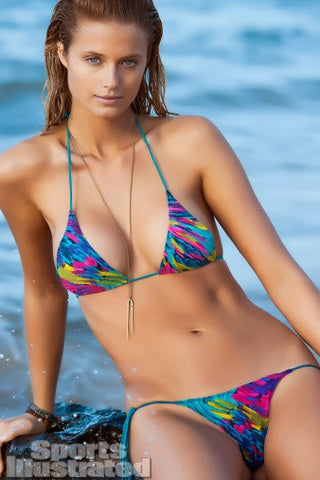 Beauty & the Beach Paint Splash Bikini
