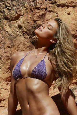 Beauty & the Beach Shimmer Itsy Bitsy Bikini in Amethyst
