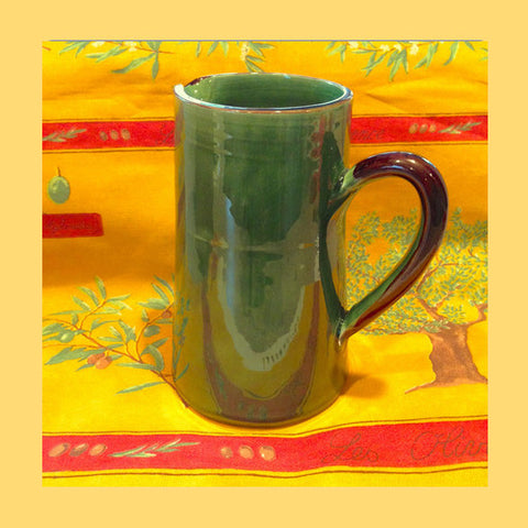 Souléo Green Pottery Pitcher