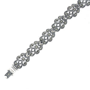 Marcasite Silver Bracelet - Vintage Style Jewellery by Chicago Marcasite Jewellery