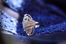 Load image into Gallery viewer, Silver Marcasite Ring - Vintage Style Jewellery by Chicago Marcasite Jewellery