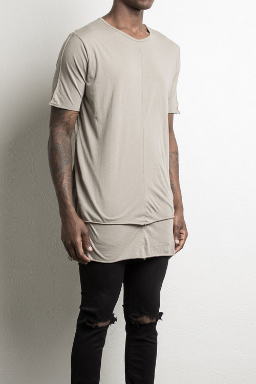 layered tee by daniel patrick, in wheat