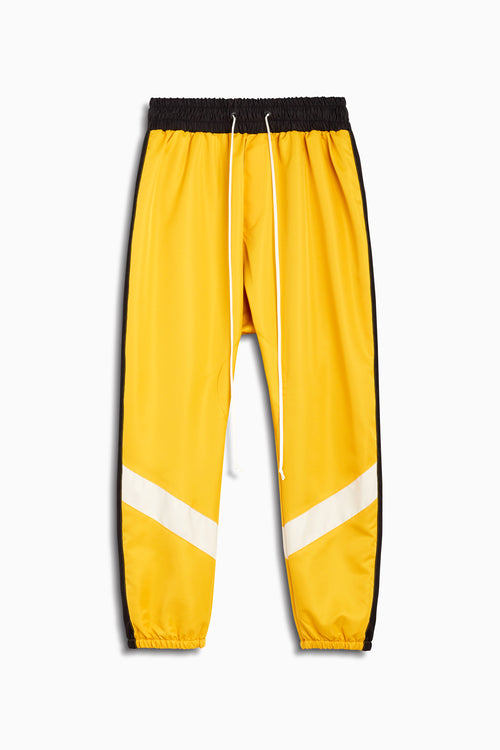 parachute track pant ii in yellow/black/ivory by daniel patrick