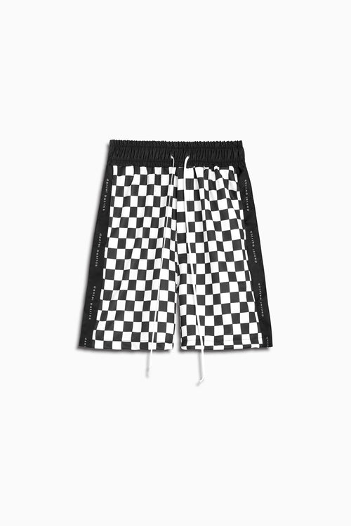 roaming gym short in checkerboard by daniel patrick