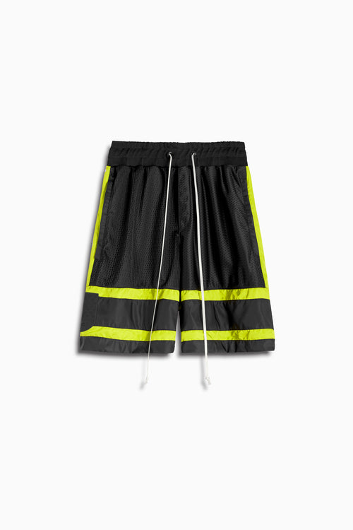 5.5 gym short in black/citrus lime by daniel patrick