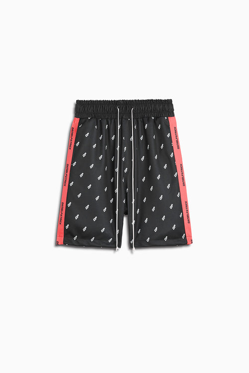 DP gym short in black/neon pink by daniel patrick
