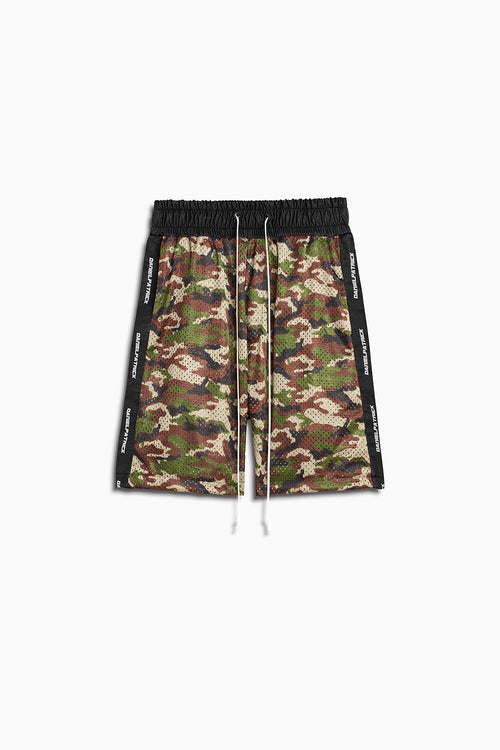 mesh gym short in camo/black by daniel patrick
