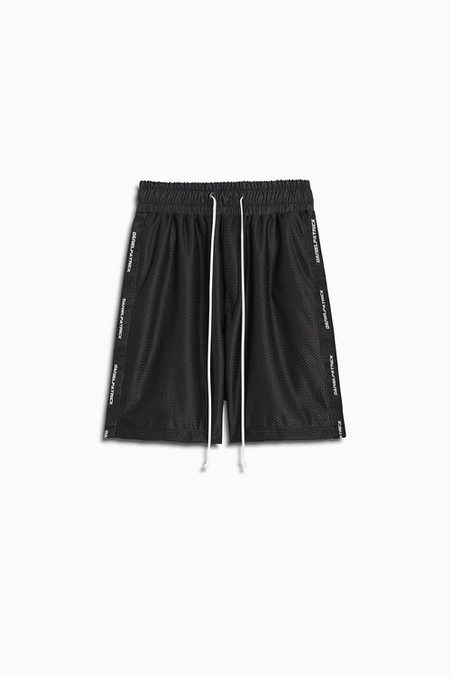 mesh gym short in black by daniel patrick