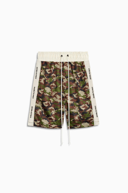 mesh gym short in camo/ivory by daniel patrick