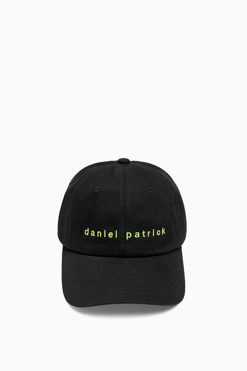dp dad cap in black/lime by daniel patrick