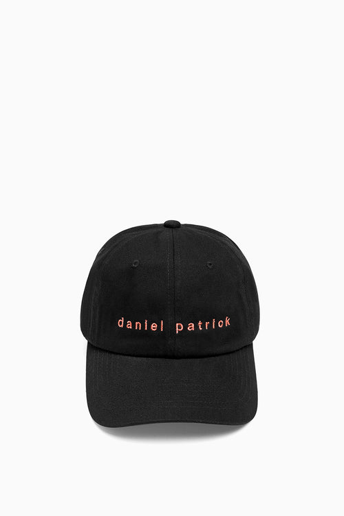 dp dad cap in black/coral by daniel patrick