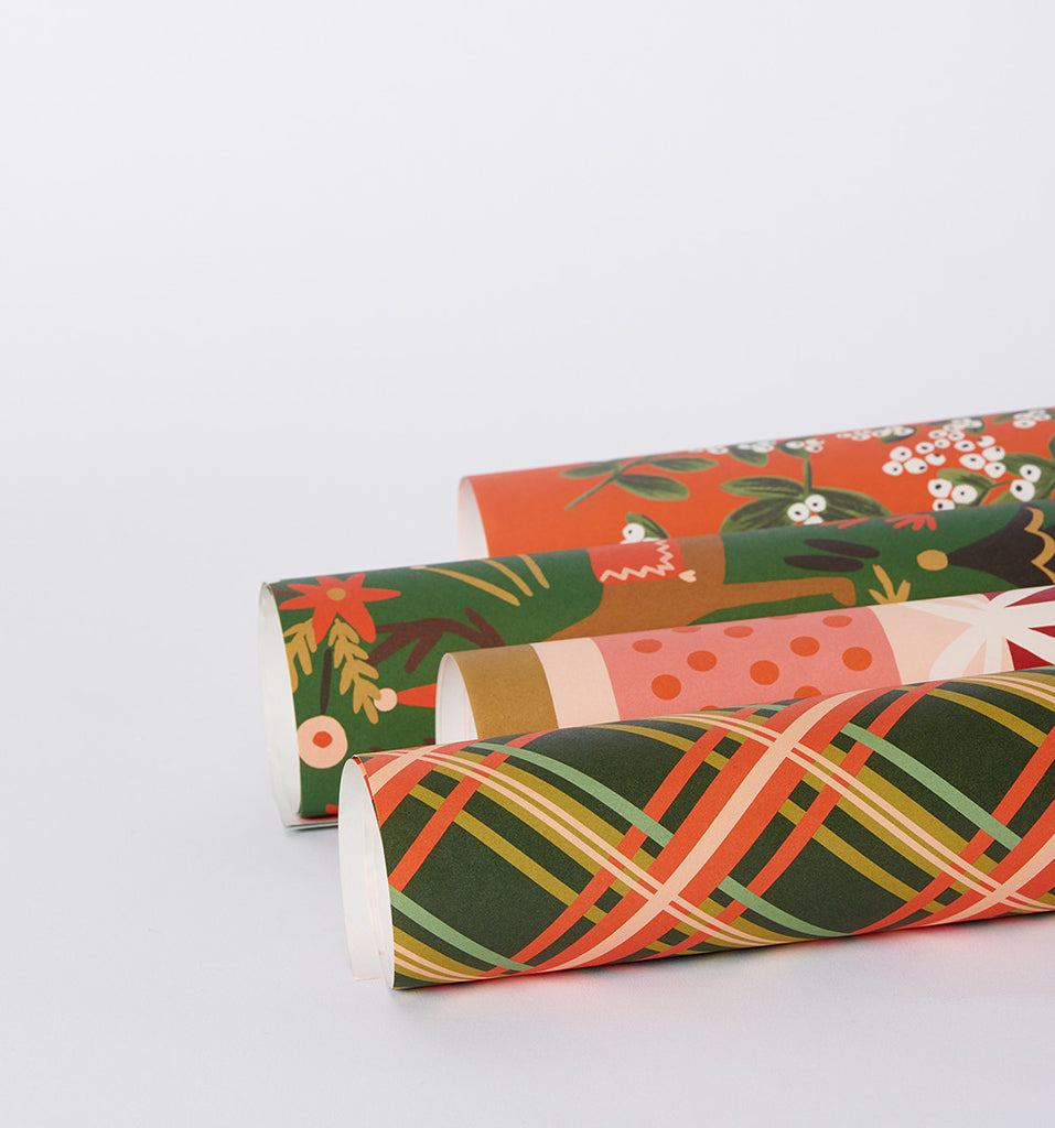 rifle paper co holiday wrapping paper