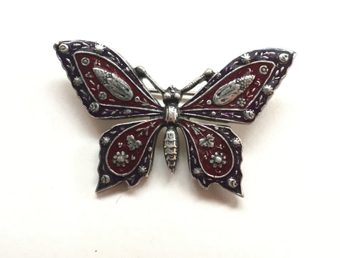 Butterfly Brooch Vintage Metal Enamel pin