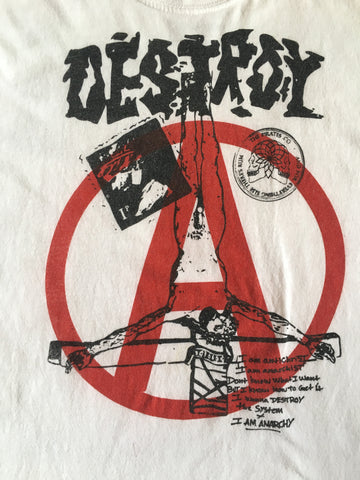 The Pirates vs Seditionaries DESTROY T-Shirt - White