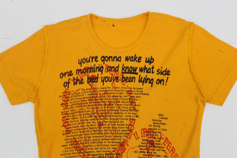 You're Gonna Wake Up... VS Honi Soit-  Punk T-shirt - Yellow
